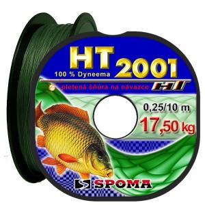 Dyneema 0,10mm/10m pletená šňůra HT 2001